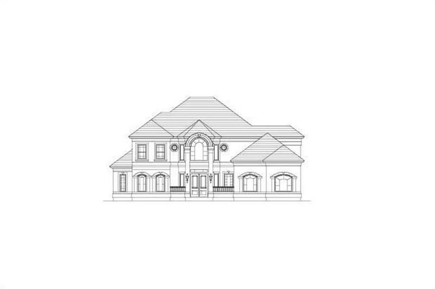 4-Bedroom, 4380 Sq Ft Luxury Home Plan - 156-2270 - Main Exterior