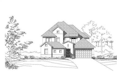 5-Bedroom, 3974 Sq Ft Luxury House Plan - 156-2271 - Front Exterior