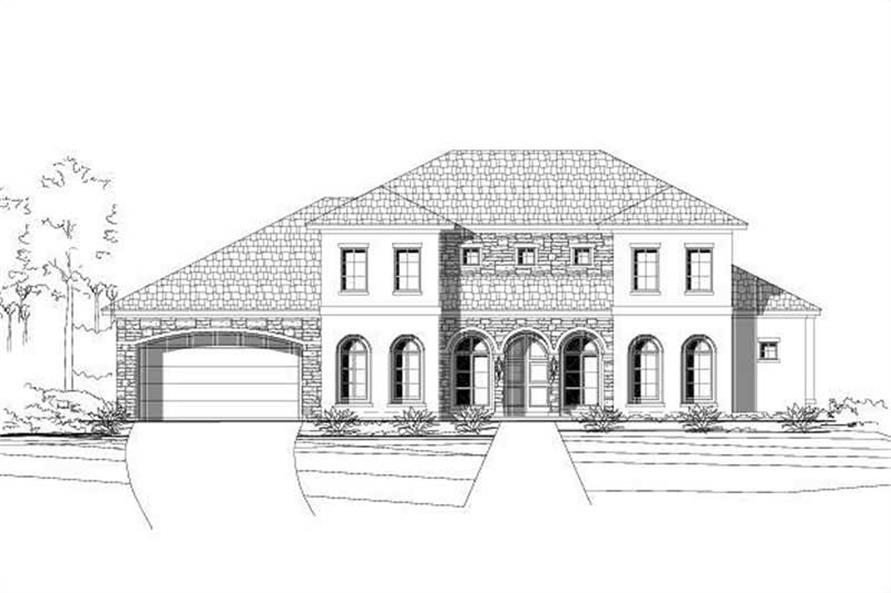 5-Bedroom, 3897 Sq Ft Luxury House Plan - 156-2272 - Front Exterior