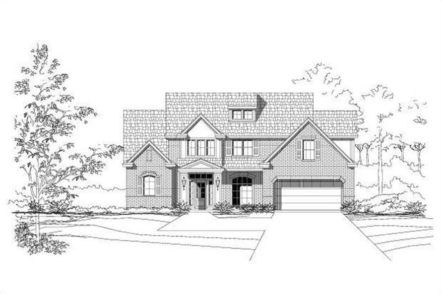 4-Bedroom, 2932 Sq Ft Traditional House Plan - 156-2273 - Front Exterior