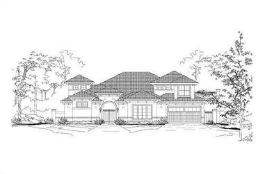 4-Bedroom, 4751 Sq Ft Mediterranean House Plan - 156-2274 - Front Exterior