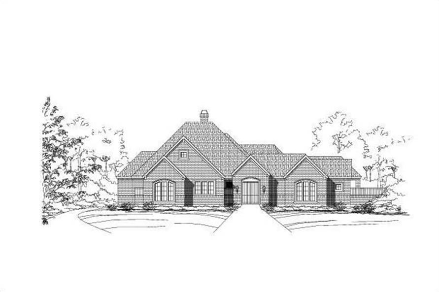 3-Bedroom, 3340 Sq Ft Luxury House Plan - 156-2275 - Front Exterior