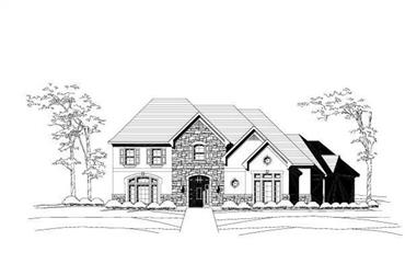 4-Bedroom, 5363 Sq Ft Luxury House Plan - 156-2276 - Front Exterior