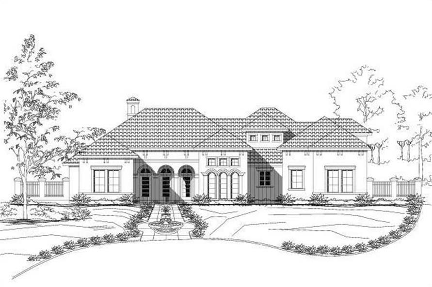 3-Bedroom, 2376 Sq Ft Mediterranean Home Plan - 156-2277 - Main Exterior