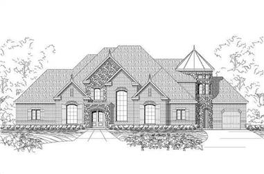 4-Bedroom, 5126 Sq Ft French Home Plan - 156-2278 - Main Exterior