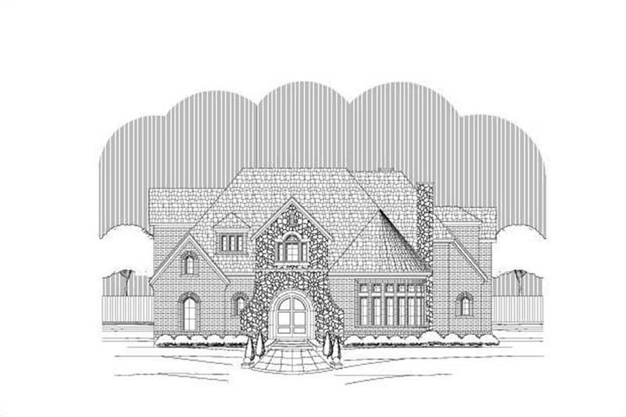 5-Bedroom, 6466 Sq Ft Country Home Plan - 156-2281 - Main Exterior
