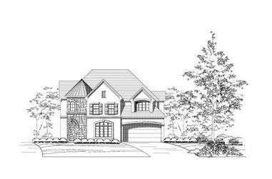 4-Bedroom, 3862 Sq Ft Tuscan House Plan - 156-2282 - Front Exterior