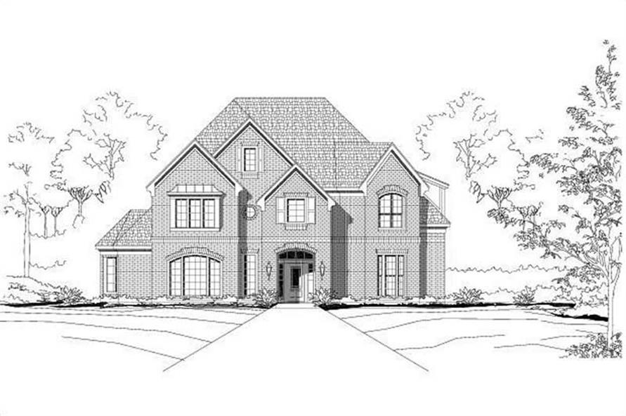 5-Bedroom, 4679 Sq Ft Luxury House Plan - 156-2284 - Front Exterior