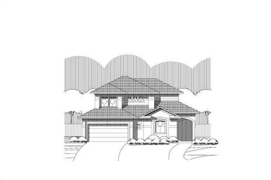3-Bedroom, 2300 Sq Ft Florida Style House Plan - 156-2285 - Front Exterior