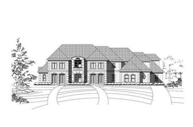5-Bedroom, 8457 Sq Ft Luxury Home Plan - 156-2286 - Main Exterior