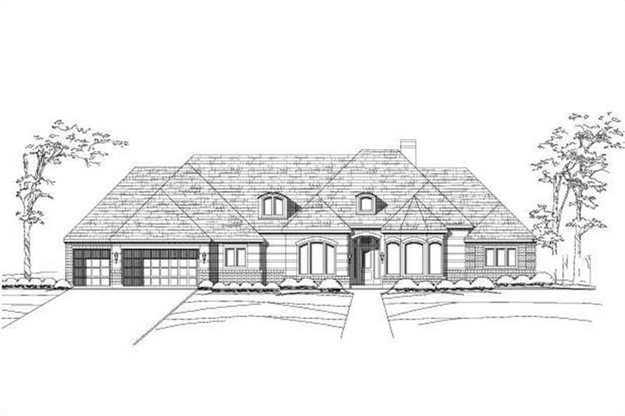4-Bedroom, 3710 Sq Ft Luxury House Plan - 156-2287 - Front Exterior