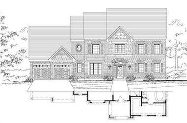 4-Bedroom, 4080 Sq Ft Luxury House Plan - 156-2291 - Front Exterior