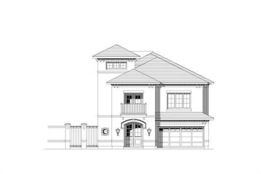 3-Bedroom, 3961 Sq Ft Tuscan Home Plan - 156-2293 - Main Exterior