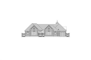 3-Bedroom, 3940 Sq Ft Luxury House Plan - 156-2295 - Front Exterior