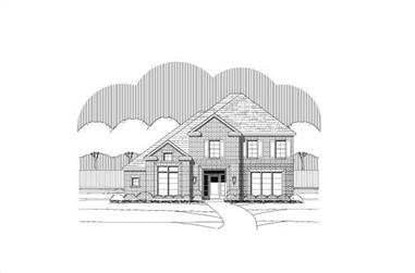 4-Bedroom, 3414 Sq Ft Luxury House Plan - 156-2297 - Front Exterior