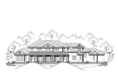5-Bedroom, 7502 Sq Ft Luxury House Plan - 156-2298 - Front Exterior