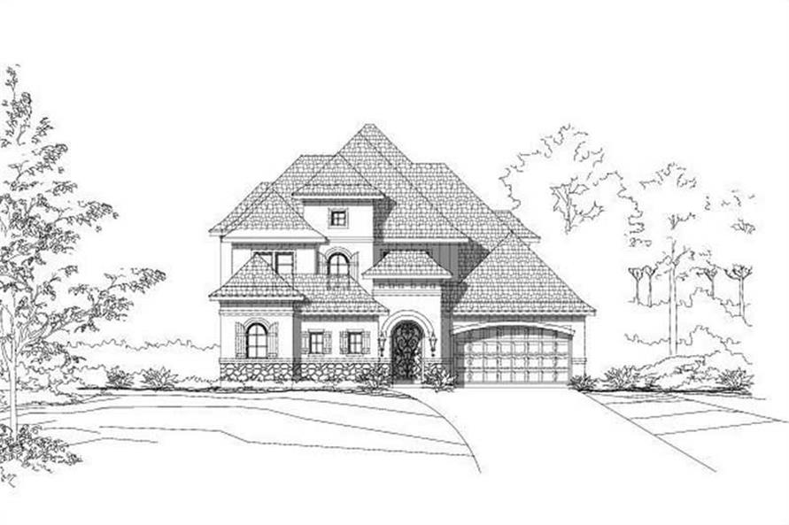4-Bedroom, 4171 Sq Ft House Plan - 156-2299 - Front Exterior