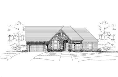 4-Bedroom, 3013 Sq Ft Country House Plan - 156-2305 - Front Exterior