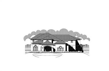 6-Bedroom, 5919 Sq Ft Luxury House Plan - 156-2306 - Front Exterior