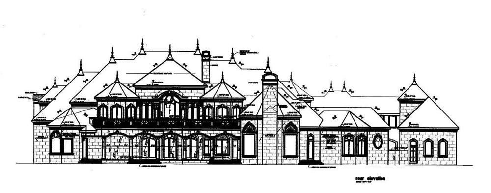 House Plans Rear Elevation