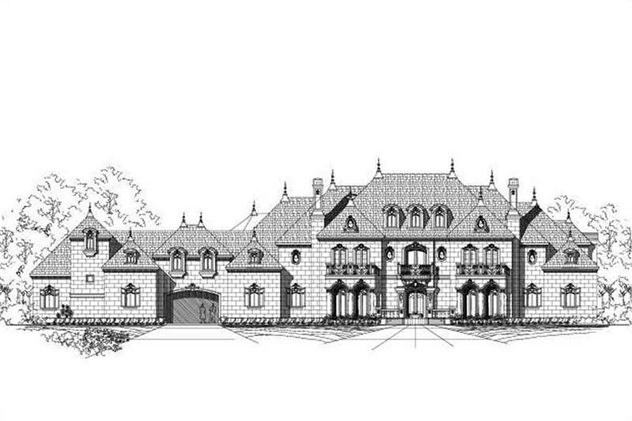 8-Bedroom, 11877 Sq Ft French Home Plan - 156-2307 - Main Exterior