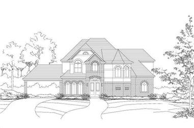 4-Bedroom, 3918 Sq Ft Luxury Home Plan - 156-2310 - Main Exterior