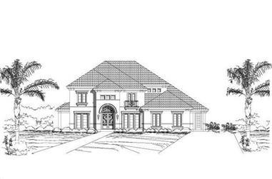 5-Bedroom, 4144 Sq Ft Mediterranean House Plan - 156-2312 - Front Exterior