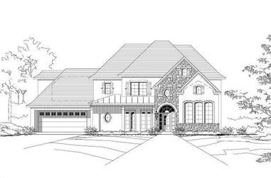 4-Bedroom, 4203 Sq Ft Country House Plan - 156-2313 - Front Exterior