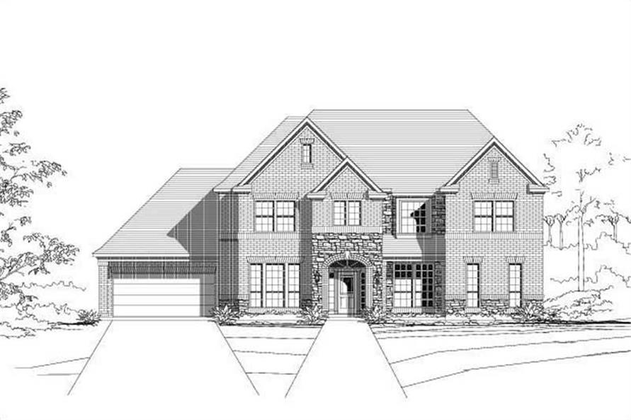6-Bedroom, 4157 Sq Ft Luxury House Plan - 156-2314 - Front Exterior