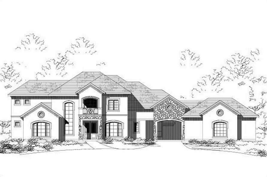 5-Bedroom, 4380 Sq Ft House Plan - 156-2315 - Front Exterior