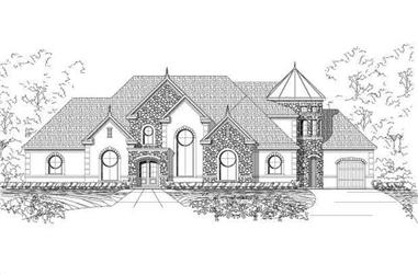 4-Bedroom, 5126 Sq Ft Luxury House Plan - 156-2316 - Front Exterior