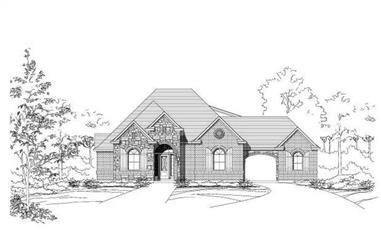 4-Bedroom, 3852 Sq Ft Luxury House Plan - 156-2317 - Front Exterior