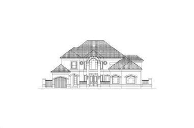 4-Bedroom, 4114 Sq Ft Mediterranean House Plan - 156-2319 - Front Exterior
