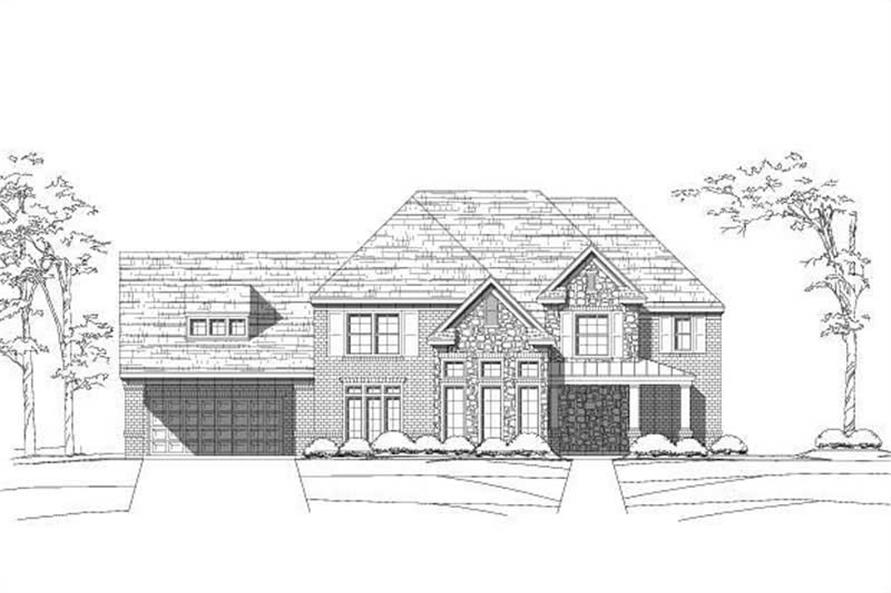 4-Bedroom, 4267 Sq Ft Craftsman House Plan - 156-2320 - Front Exterior