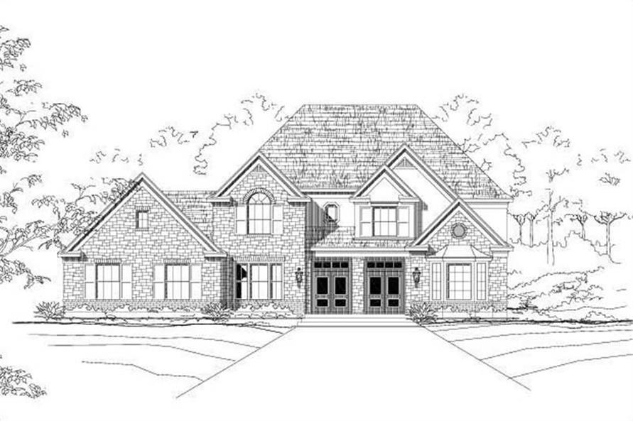 6-Bedroom, 4319 Sq Ft Craftsman House Plan - 156-2321 - Front Exterior