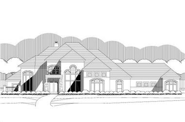 4-Bedroom, 4459 Sq Ft Contemporary House Plan - 156-2323 - Front Exterior