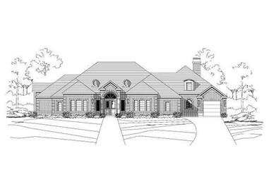4-Bedroom, 3854 Sq Ft European Home Plan - 156-2325 - Main Exterior