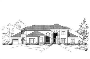 6-Bedroom, 5471 Sq Ft Mediterranean House Plan - 156-2327 - Front Exterior