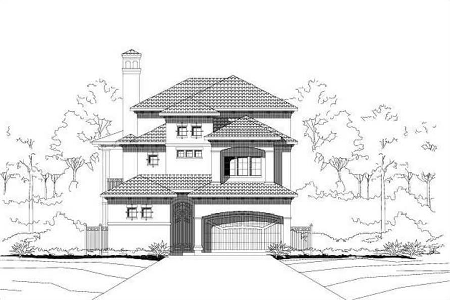 3-Bedroom, 3971 Sq Ft Mediterranean House Plan - 156-2328 - Front Exterior