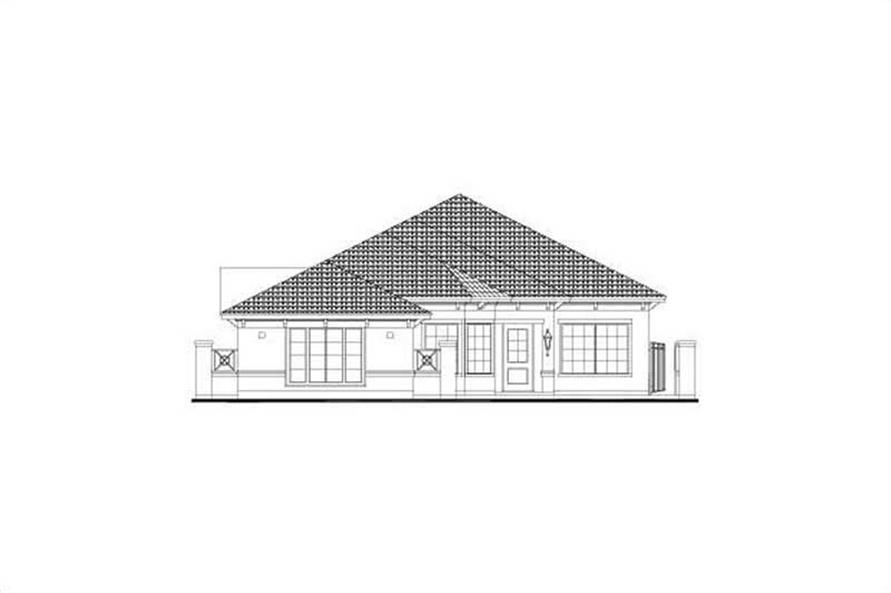 3-Bedroom, 2699 Sq Ft Mediterranean House Plan - 156-2330 - Front Exterior