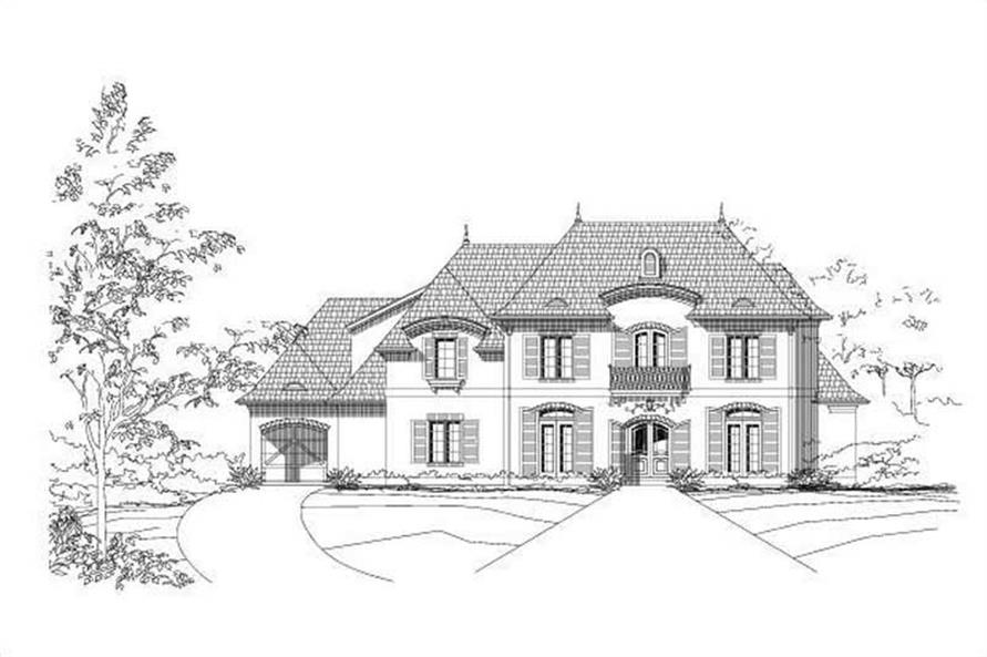 5-Bedroom, 6407 Sq Ft Luxury House Plan - 156-2332 - Front Exterior