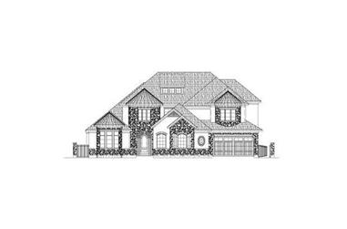 4-Bedroom, 4834 Sq Ft Tuscan House Plan - 156-2333 - Front Exterior