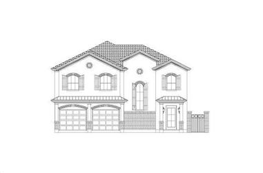 3-Bedroom, 3070 Sq Ft Spanish House Plan - 156-2335 - Front Exterior