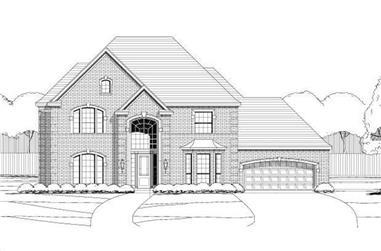 5-Bedroom, 3591 Sq Ft Luxury Home Plan - 156-2336 - Main Exterior