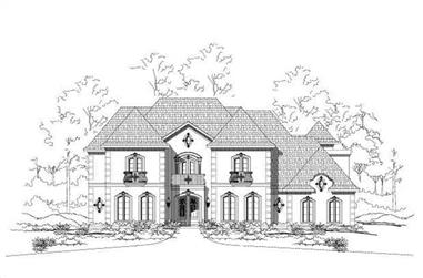 4-Bedroom, 4926 Sq Ft French House Plan - 156-2338 - Front Exterior