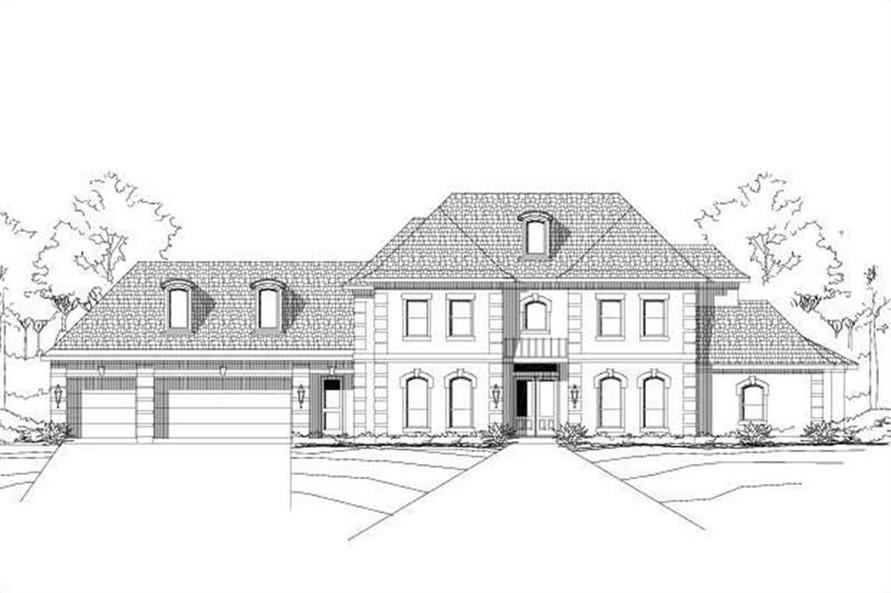 4-Bedroom, 4205 Sq Ft Luxury House Plan - 156-2340 - Front Exterior