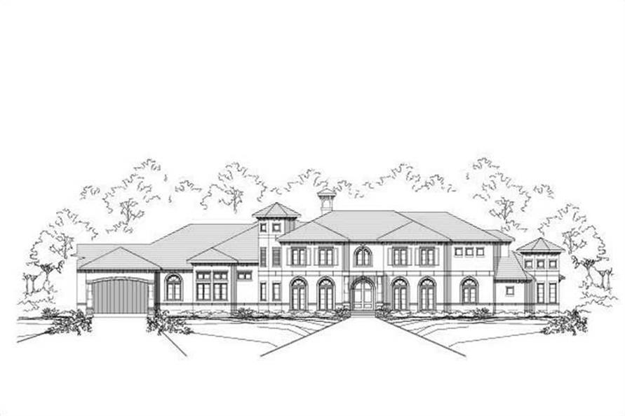 7-Bedroom, 7943 Sq Ft Luxury House Plan - 156-2341 - Front Exterior