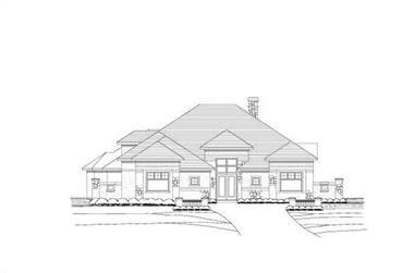 Tuscan spanish house plans between 3200 and 3300 square feet for 3200 sq ft house plans