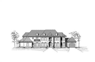 5-Bedroom, 8224 Sq Ft French Home Plan - 156-2343 - Main Exterior