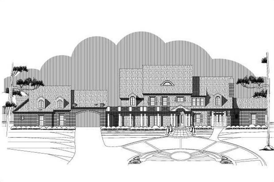 4-Bedroom, 6713 Sq Ft Luxury Home Plan - 156-2344 - Main Exterior